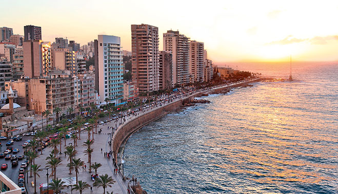 Beirut at sunset