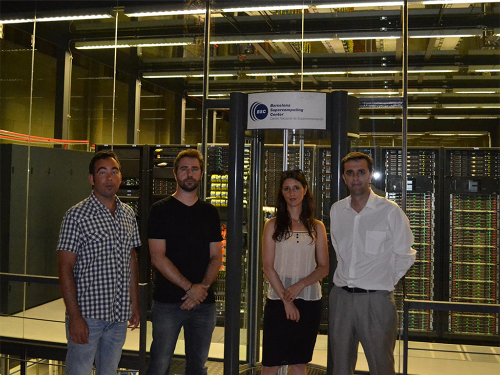 Scientists working on Iberdrola's Sedar Project stand by the Barcelona Supercomputing Center