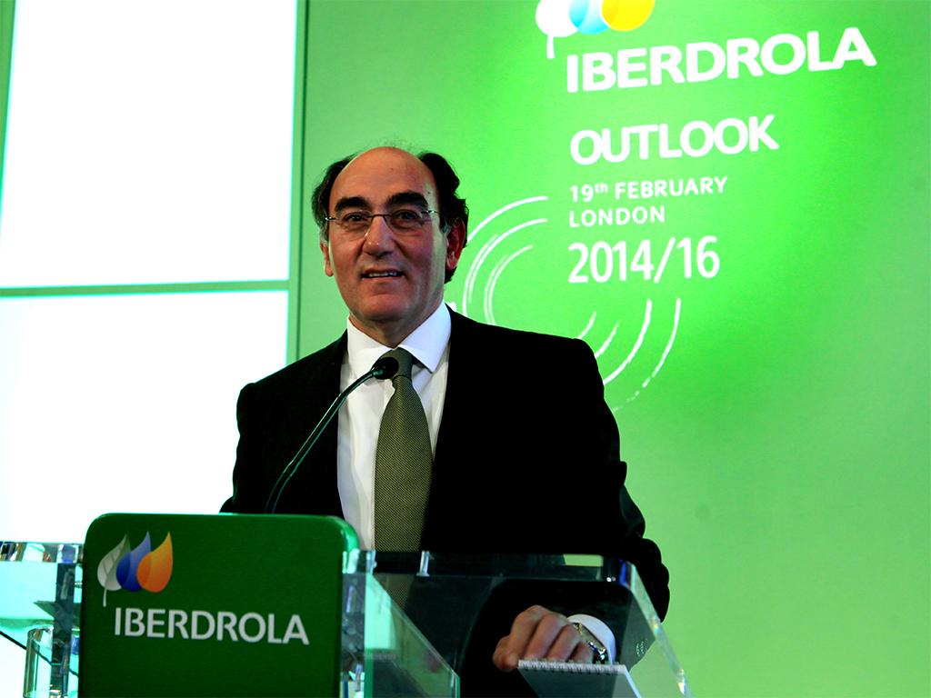 Ignacio Galán at Iberdrola's 2013 Results press conference