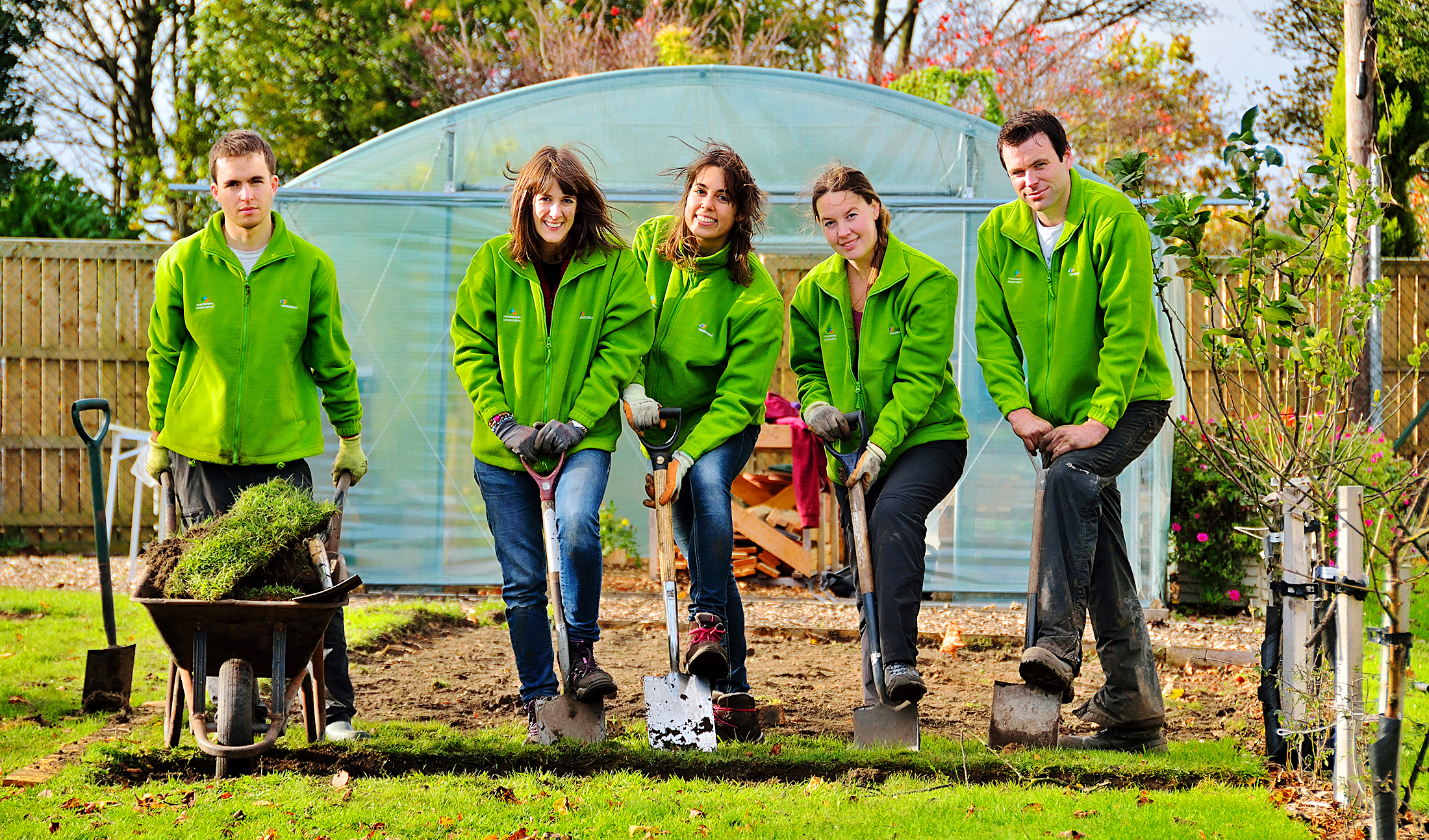 Participants at Iberdrola's corporate volunteering programme, which took place in the UK, Spain, Brazil and the US