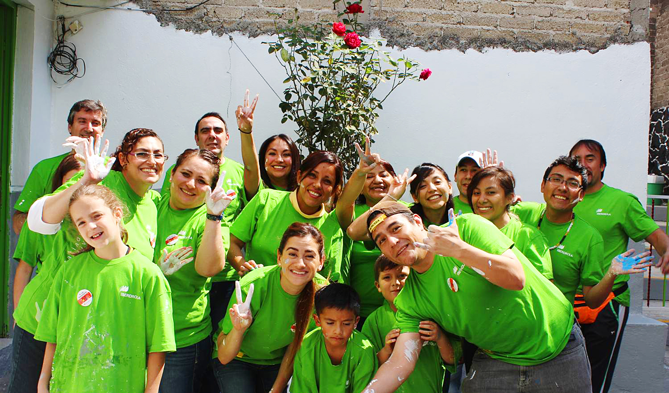 Iberdrola volunteers in Mexico