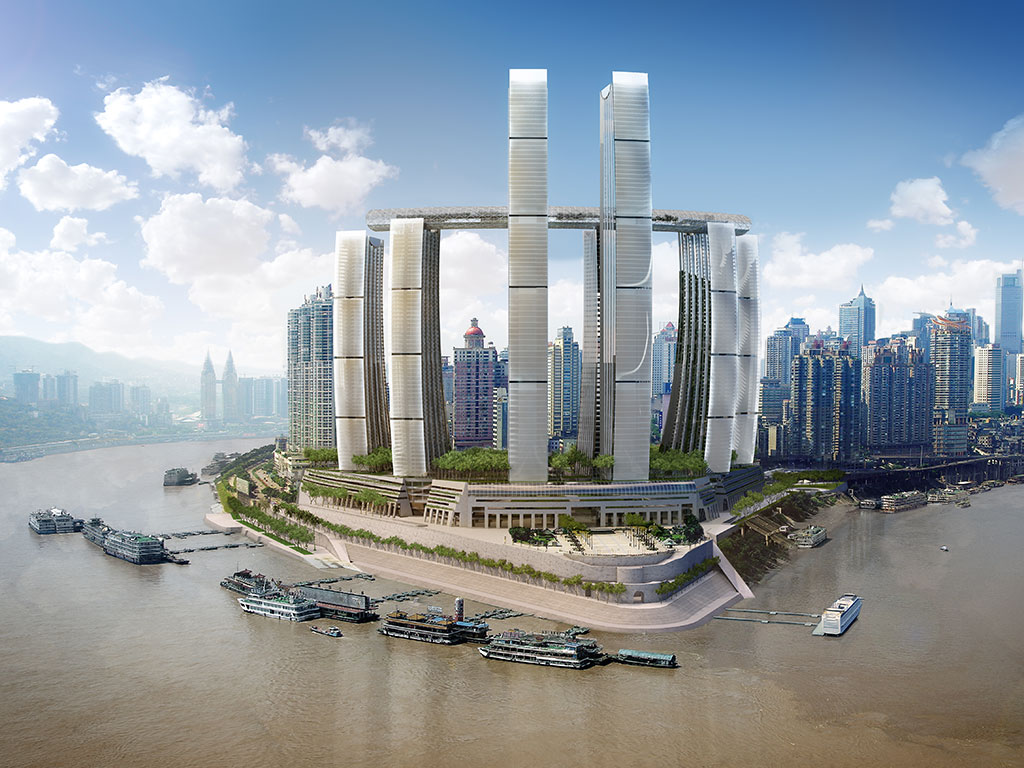 Raffles City Chongqing, China - a landmark integrated development with an expected total development cost of RMB21.1bn (about S$4.2bn). It is CapitaLand's biggest single investment in China, and also the largest investment in a single development ever made by a Singapore company in the country
