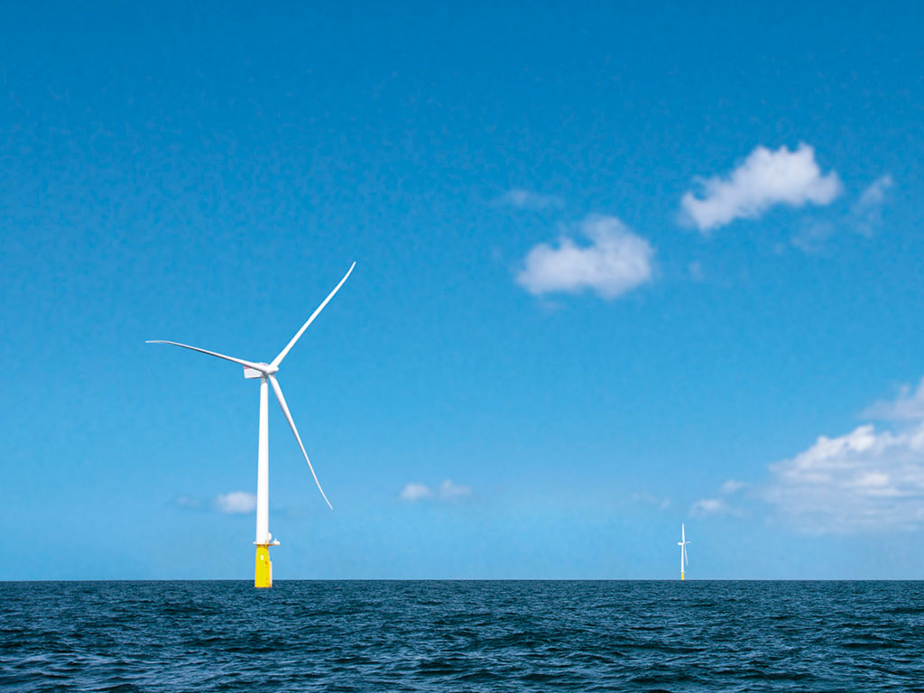Turbines at West of Duddon Sands offshore wind farm
